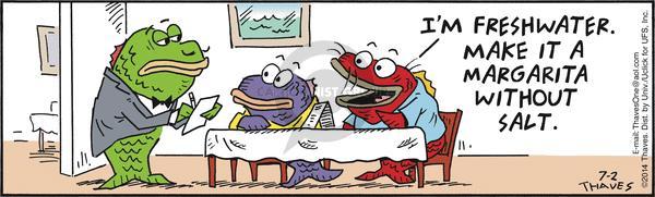 Cartoonist Bob Thaves Tom Thaves  Frank and Ernest 2014-07-02 habitat