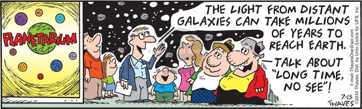 Cartoonist Bob Thaves Tom Thaves  Frank and Ernest 2014-07-15 galaxy
