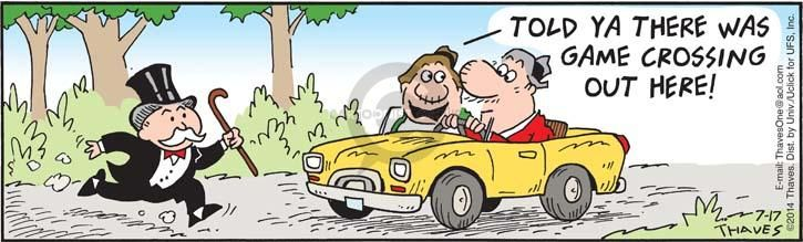 Comic Strip Bob Thaves Tom Thaves  Frank and Ernest 2014-07-17 cross