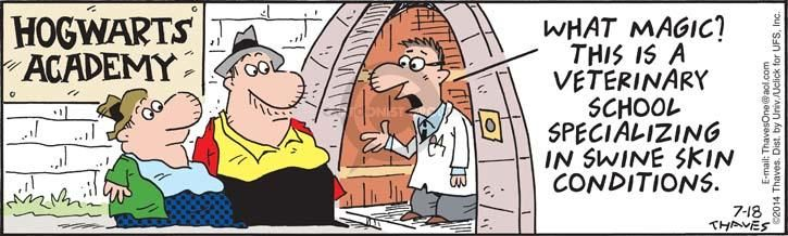 Comic Strip Bob Thaves Tom Thaves  Frank and Ernest 2014-07-18 dermatology