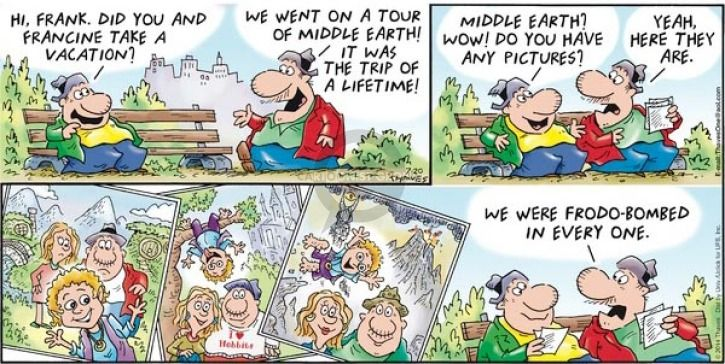 Comic Strip Bob Thaves Tom Thaves  Frank and Ernest 2014-07-20 vacation travel