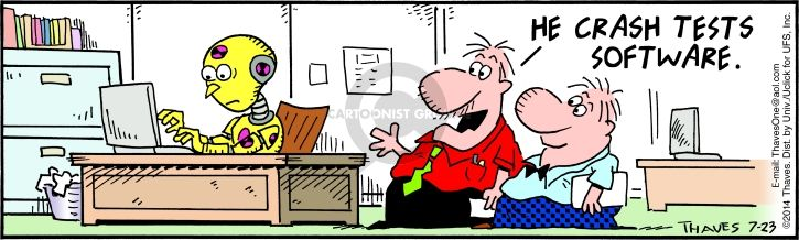 Comic Strip Bob Thaves Tom Thaves  Frank and Ernest 2014-07-23 code