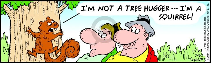 Cartoonist Bob Thaves Tom Thaves  Frank and Ernest 2014-07-30 outdoors