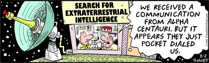 Comic Strip Bob Thaves Tom Thaves  Frank and Ernest 2014-08-02 intelligence
