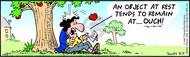 Comic Strip Bob Thaves Tom Thaves  Frank and Ernest 2014-08-07 apple