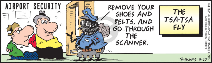Comic Strip Bob Thaves Tom Thaves  Frank and Ernest 2014-08-27 shoe