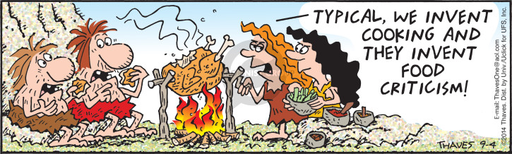Cartoonist Bob Thaves Tom Thaves  Frank and Ernest 2014-09-04 chicken