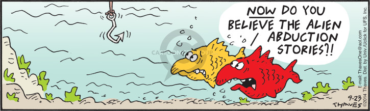 Comic Strip Bob Thaves Tom Thaves  Frank and Ernest 2014-09-23 fish