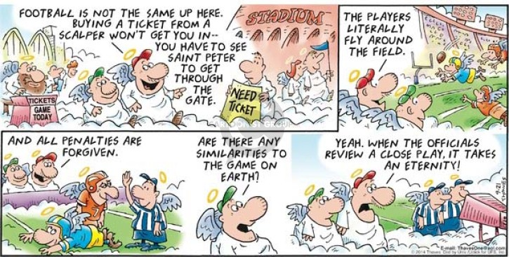 Comic Strip Bob Thaves Tom Thaves  Frank and Ernest 2014-09-21 penalty