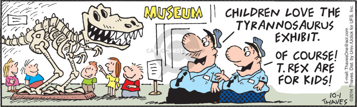 Comic Strip Bob Thaves Tom Thaves  Frank and Ernest 2014-10-01 museum