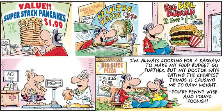 Comic Strip Bob Thaves Tom Thaves  Frank and Ernest 2014-10-12 pizza