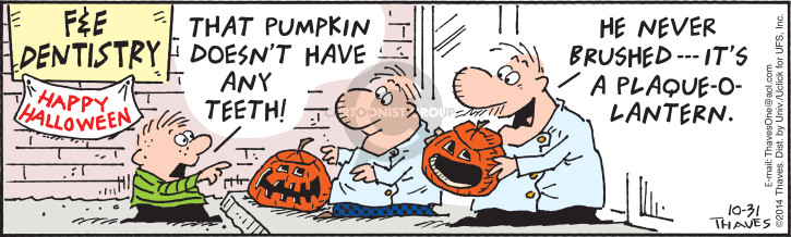 Comic Strip Bob Thaves Tom Thaves  Frank and Ernest 2014-10-31 Halloween