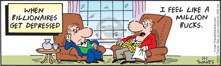 Comic Strip Bob Thaves Tom Thaves  Frank and Ernest 2014-11-01 depression