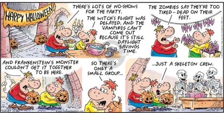Comic Strip Bob Thaves Tom Thaves  Frank and Ernest 2014-10-26 Halloween