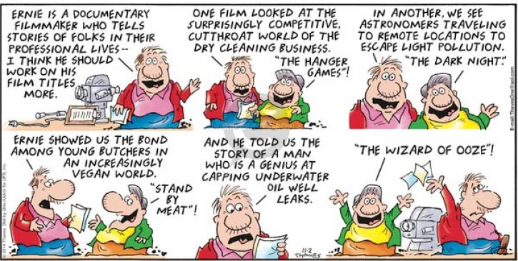 Comic Strip Bob Thaves Tom Thaves  Frank and Ernest 2014-11-02 meat