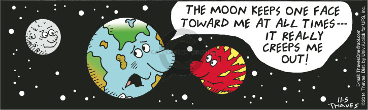 Comic Strip Bob Thaves Tom Thaves  Frank and Ernest 2014-11-05 planet