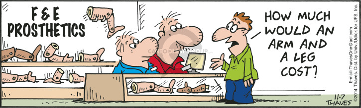 Comic Strip Bob Thaves Tom Thaves  Frank and Ernest 2014-11-07 fake