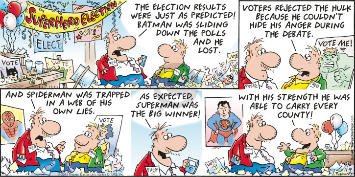 Cartoonist Bob Thaves Tom Thaves  Frank and Ernest 2014-11-09 outcome