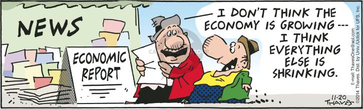 Cartoonist Bob Thaves Tom Thaves  Frank and Ernest 2014-11-20 economic