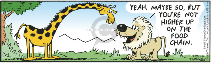 Comic Strip Bob Thaves Tom Thaves  Frank and Ernest 2014-11-26 wildlife