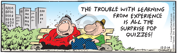 Comic Strip Bob Thaves Tom Thaves  Frank and Ernest 2014-12-02 surprise
