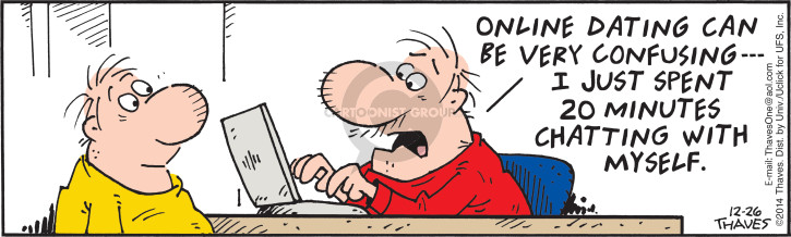 Comic Strip Bob Thaves Tom Thaves  Frank and Ernest 2014-12-26 online date
