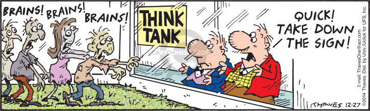 Comic Strip Bob Thaves Tom Thaves  Frank and Ernest 2014-12-27 tank