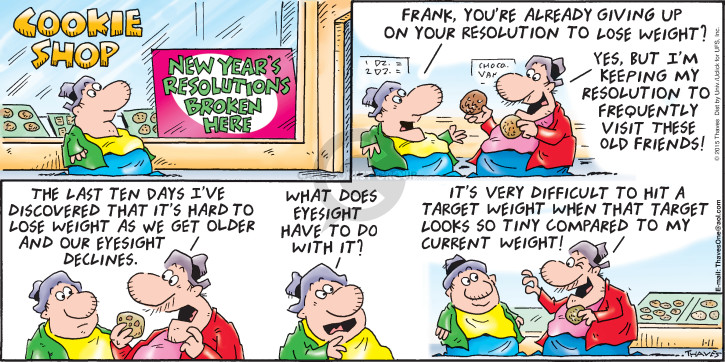 Comic Strip Bob Thaves Tom Thaves  Frank and Ernest 2015-01-11 New Year
