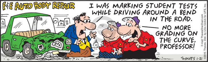 Comic Strip Bob Thaves Tom Thaves  Frank and Ernest 2015-01-21 car safety