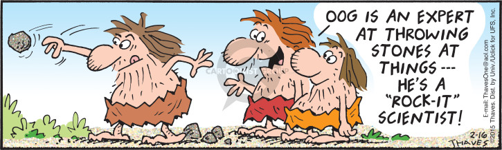 Cartoonist Bob Thaves Tom Thaves  Frank and Ernest 2015-02-16 geology