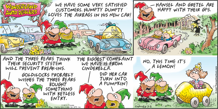 Comic Strip Bob Thaves Tom Thaves  Frank and Ernest 2015-03-08 car sales