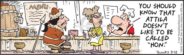 Cartoonist Bob Thaves Tom Thaves  Frank and Ernest 2015-03-12 diner