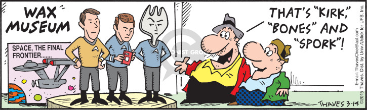 Comic Strip Bob Thaves Tom Thaves  Frank and Ernest 2015-03-14 museum