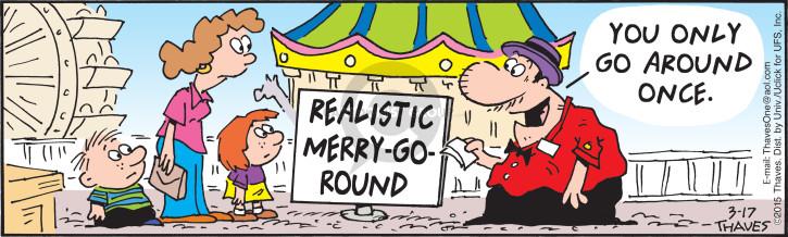 Comic Strip Bob Thaves Tom Thaves  Frank and Ernest 2015-03-17 park