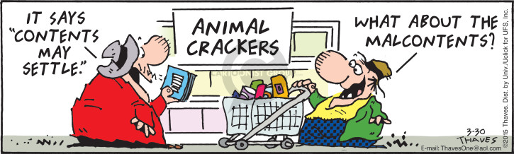 Comic Strip Bob Thaves Tom Thaves  Frank and Ernest 2015-03-30 grocery