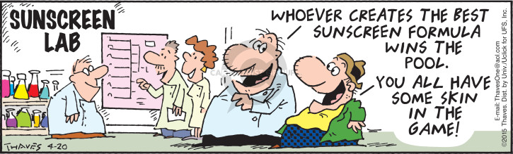 Comic Strip Bob Thaves Tom Thaves  Frank and Ernest 2015-04-20 dermatology