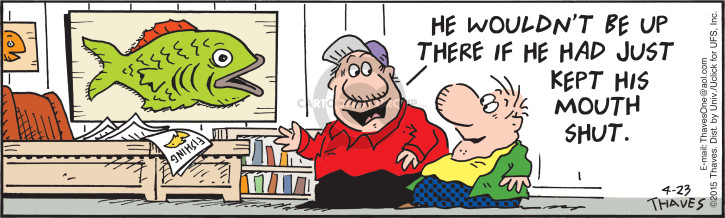 Comic Strip Bob Thaves Tom Thaves  Frank and Ernest 2015-04-23 bit