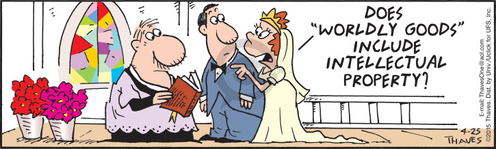 Comic Strip Bob Thaves Tom Thaves  Frank and Ernest 2015-04-25 wedding
