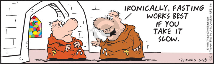 Cartoonist Bob Thaves Tom Thaves  Frank and Ernest 2015-05-23 irony