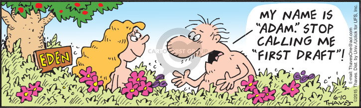 Comic Strip Bob Thaves Tom Thaves  Frank and Ernest 2015-06-10 revision