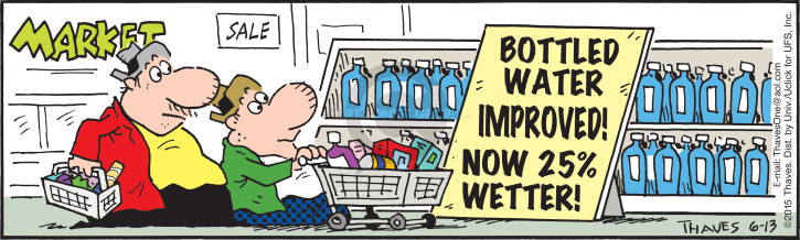 Comic Strip Bob Thaves Tom Thaves  Frank and Ernest 2015-06-13 grocery