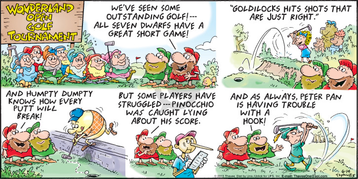 Comic Strip Bob Thaves Tom Thaves  Frank and Ernest 2015-06-14 golf