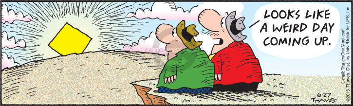 Cartoonist Bob Thaves Tom Thaves  Frank and Ernest 2015-06-27 omen