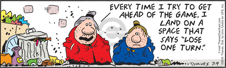 Comic Strip Bob Thaves Tom Thaves  Frank and Ernest 2015-07-09 lose