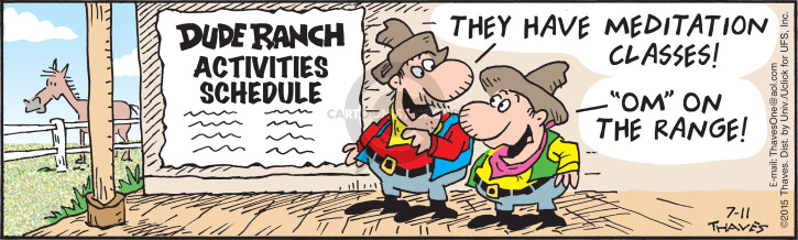 Comic Strip Bob Thaves Tom Thaves  Frank and Ernest 2015-07-11 ranch
