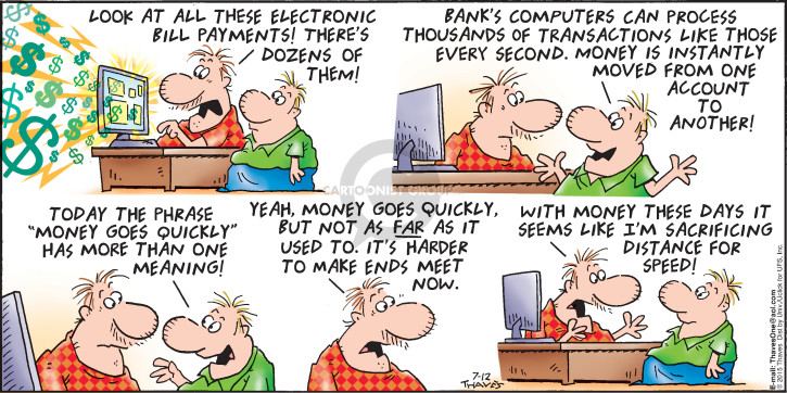 Comic Strip Bob Thaves Tom Thaves  Frank and Ernest 2015-07-12 personal computer