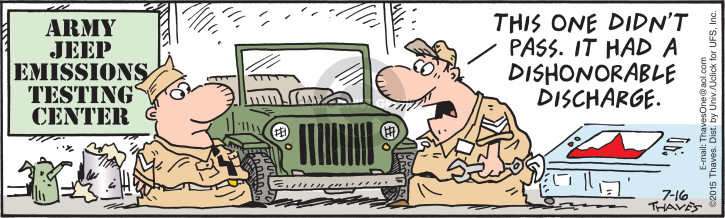 Comic Strip Bob Thaves Tom Thaves  Frank and Ernest 2015-07-16 military