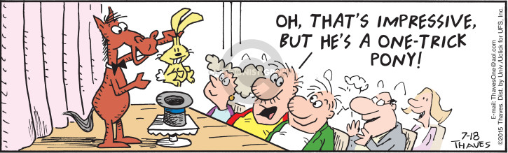 Cartoonist Bob Thaves Tom Thaves  Frank and Ernest 2015-07-18 magic trick
