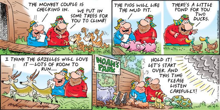 Comic Strip Bob Thaves Tom Thaves  Frank and Ernest 2015-07-19 Noah's Ark
