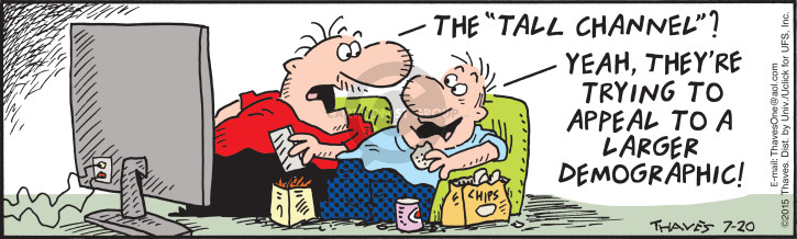 Comic Strip Bob Thaves Tom Thaves  Frank and Ernest 2015-07-20 niche